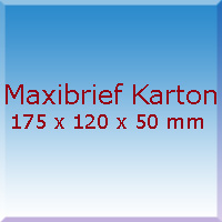 Maxibrief Karton 175x120x50mm