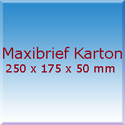 Maxibrief Karton 250x175x50mm