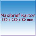Maxibrief Karton 350x250x50mm