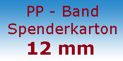 PP Band Spenderkarton 12mm