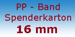 PP Band Spenderkarton 16 mm