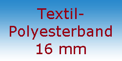 Textil Polyesterband 16 mm